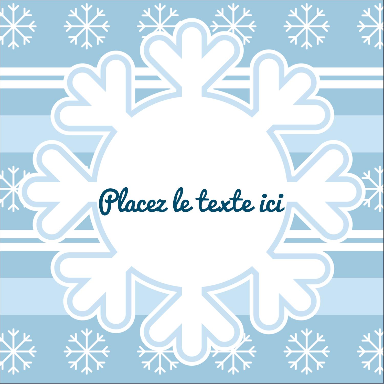 """2"""" Diameter Étiquettes rondes - Les gabarits Flocon de neige bleu pour votre prochain projet des Fêtes"""
