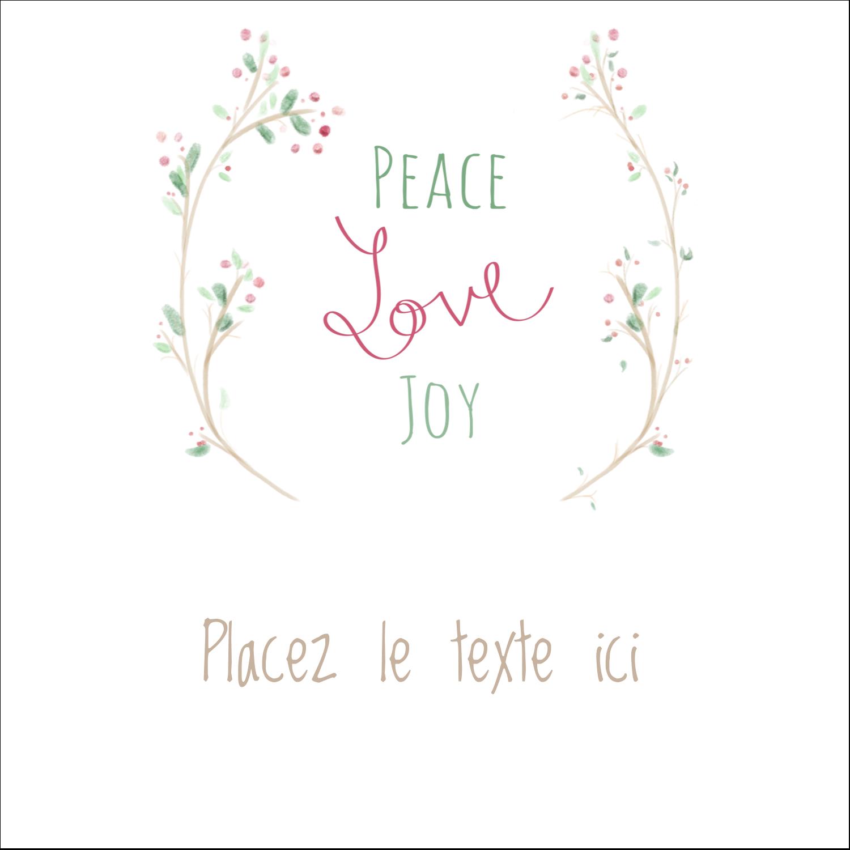 """2"""" Diameter Étiquettes rondes - Les gabarits Paix, amour et joie pour votre prochain projet créatif des Fêtes"""