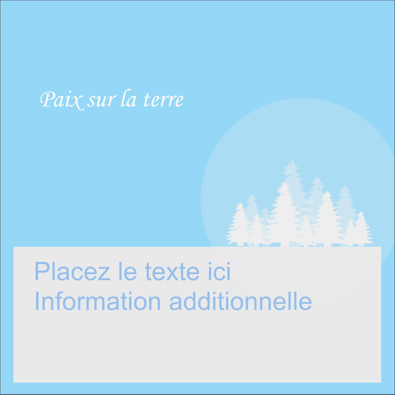 """1½"""" x 1½"""" Étiquettes carrées - Forêt bleue"""