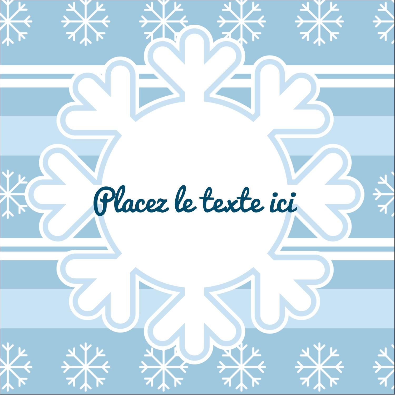 """1½"""" x 1½"""" Étiquettes carrées - Les gabarits Flocon de neige bleu pour votre prochain projet des Fêtes"""