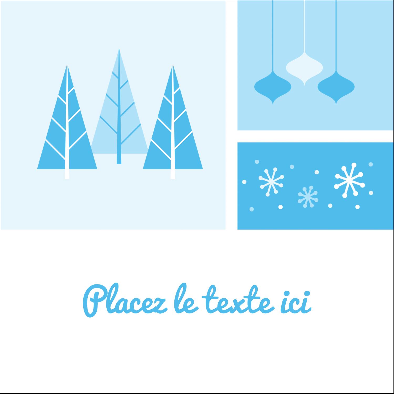 """1½"""" x 1½"""" Étiquettes carrées - Les gabarits Pays des merveilles hivernales rétro pour votre prochain projet créatif"""