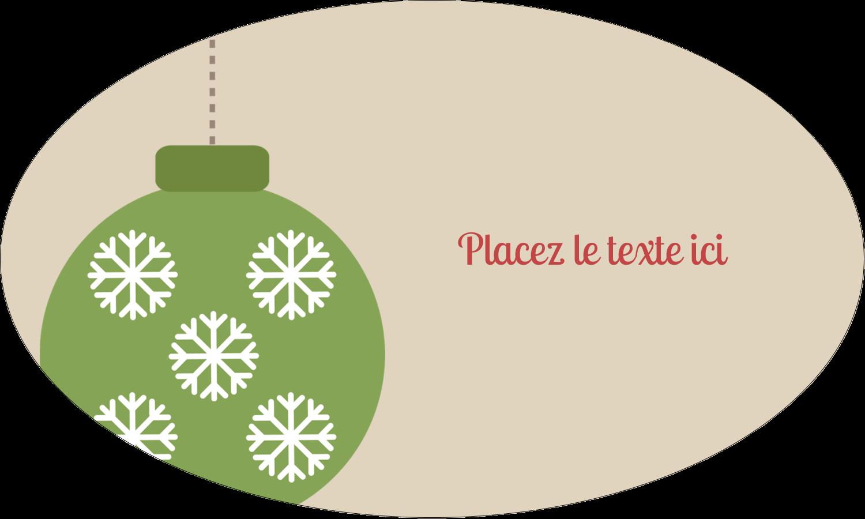 """1½"""" x 1½"""" Étiquettes carrées - Les gabarits Boules décoratives artisanales pour votre prochain projet des Fêtes"""