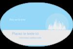 Forêt bleue Étiquettes carrées - gabarit prédéfini. <br/>Utilisez notre logiciel Avery Design & Print Online pour personnaliser facilement la conception.