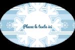 Les gabarits Flocon de neige bleu pour votre prochain projet des Fêtes Étiquettes carrées - gabarit prédéfini. <br/>Utilisez notre logiciel Avery Design & Print Online pour personnaliser facilement la conception.