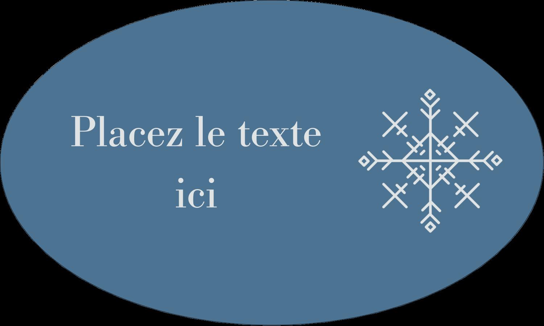 """1½"""" x 1½"""" Étiquettes carrées - Les gabarits Flocons de neige pour votre prochain projet des Fêtes"""