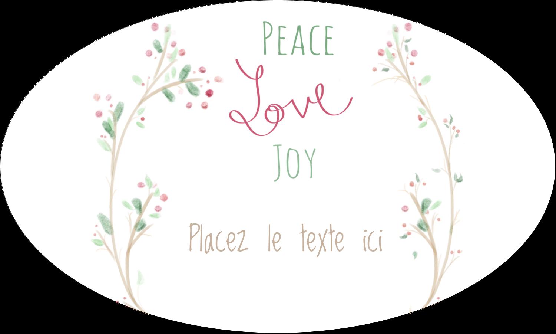 """1½"""" x 1½"""" Étiquettes carrées - Les gabarits Paix, amour et joie pour votre prochain projet créatif des Fêtes"""