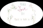 Les gabarits Paix, amour et joie pour votre prochain projet créatif des Fêtes Étiquettes carrées - gabarit prédéfini. <br/>Utilisez notre logiciel Avery Design & Print Online pour personnaliser facilement la conception.