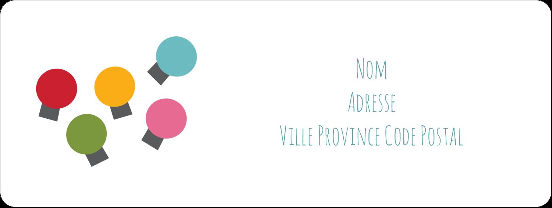 """1½"""" x 4"""" Étiquettes D'Adresse - Les gabarits Lumières de Noël pour votre prochain projet des Fêtes"""
