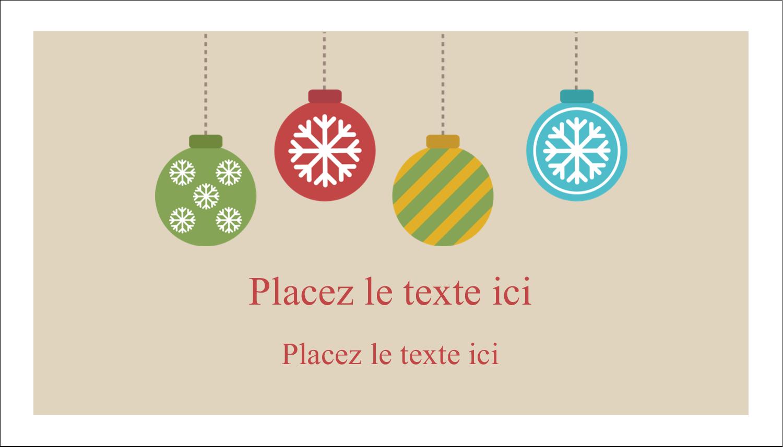 """3"""" x 5"""" Cartes Pour Le Bureau - Les gabarits Boules décoratives artisanales pour votre prochain projet des Fêtes"""