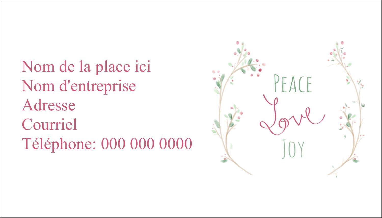 """3"""" x 5"""" Cartes Pour Le Bureau - Les gabarits Paix, amour et joie pour votre prochain projet créatif des Fêtes"""