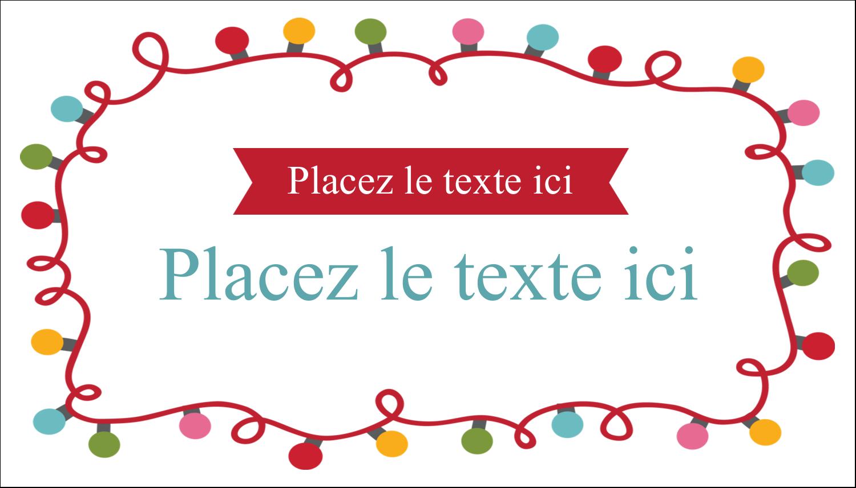 """3"""" x 5"""" Cartes Pour Le Bureau - Les gabarits Lumières de Noël pour votre prochain projet des Fêtes"""