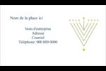 Hanoukka HanouNoël Cartes Pour Le Bureau - gabarit prédéfini. <br/>Utilisez notre logiciel Avery Design & Print Online pour personnaliser facilement la conception.