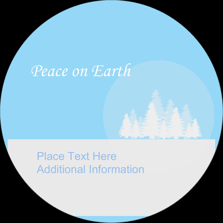 """2½"""" Round Label - Blue Forest"""