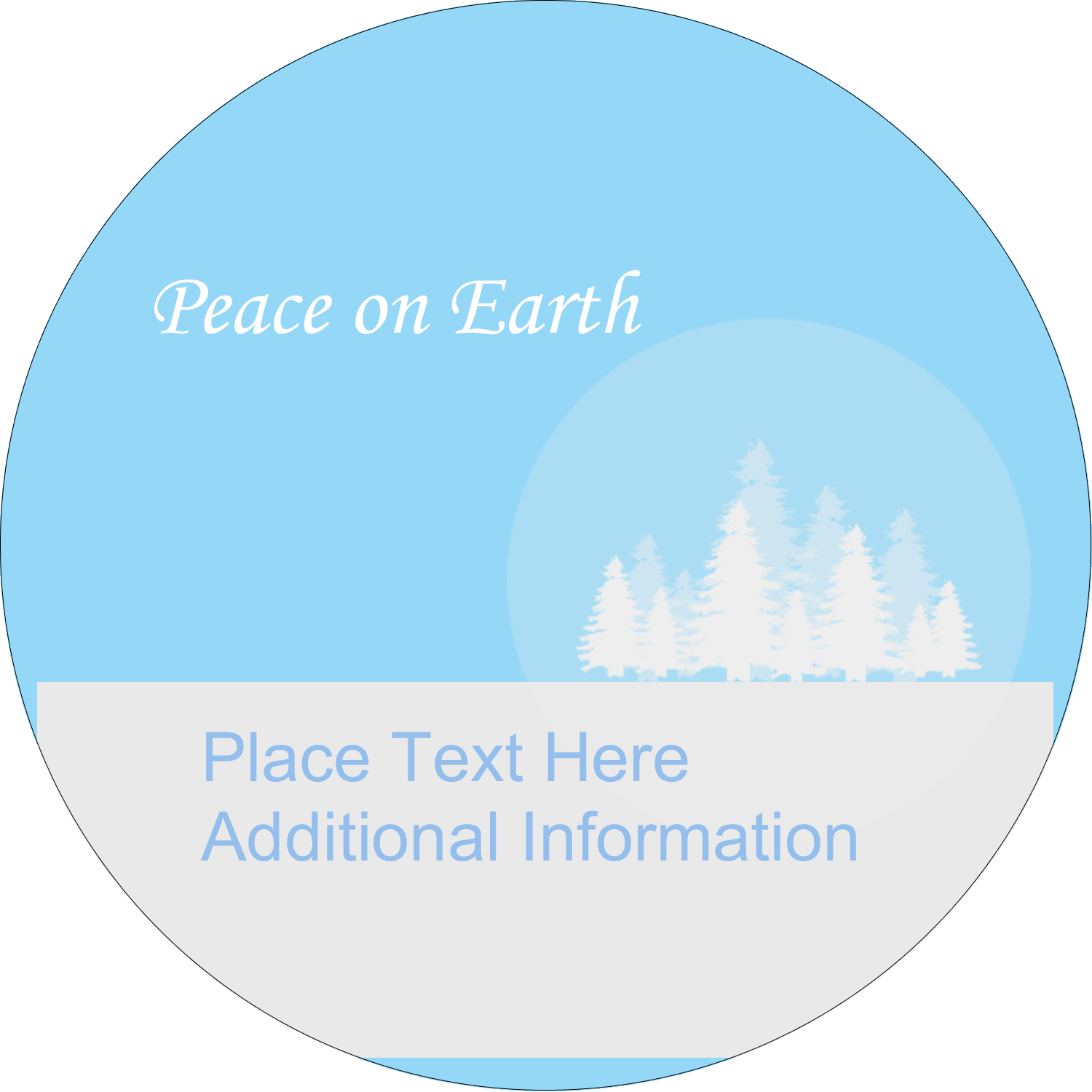 "2"" Round Label - Blue Forest"