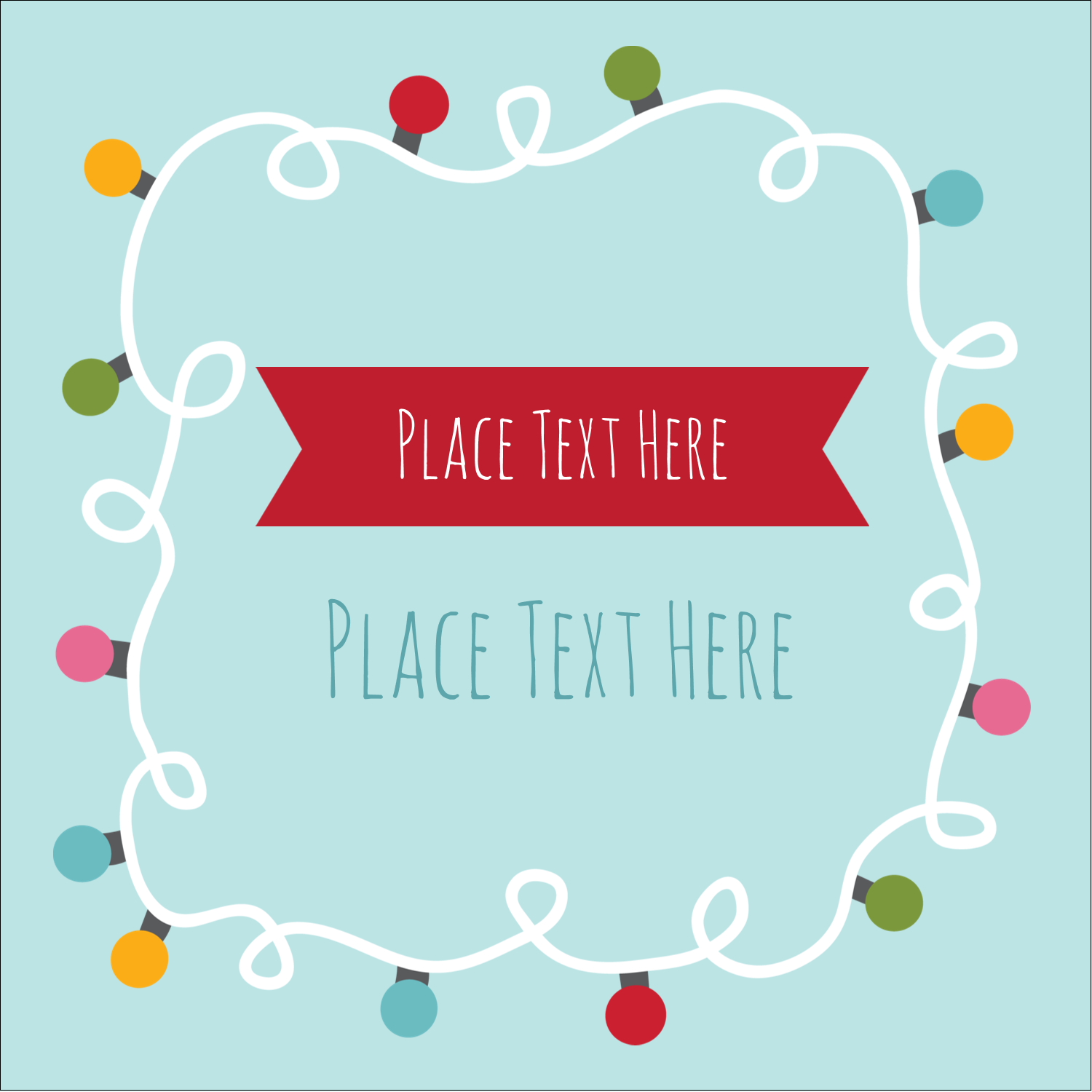 """2"""" x 2"""" Square Label - Holiday Lights"""