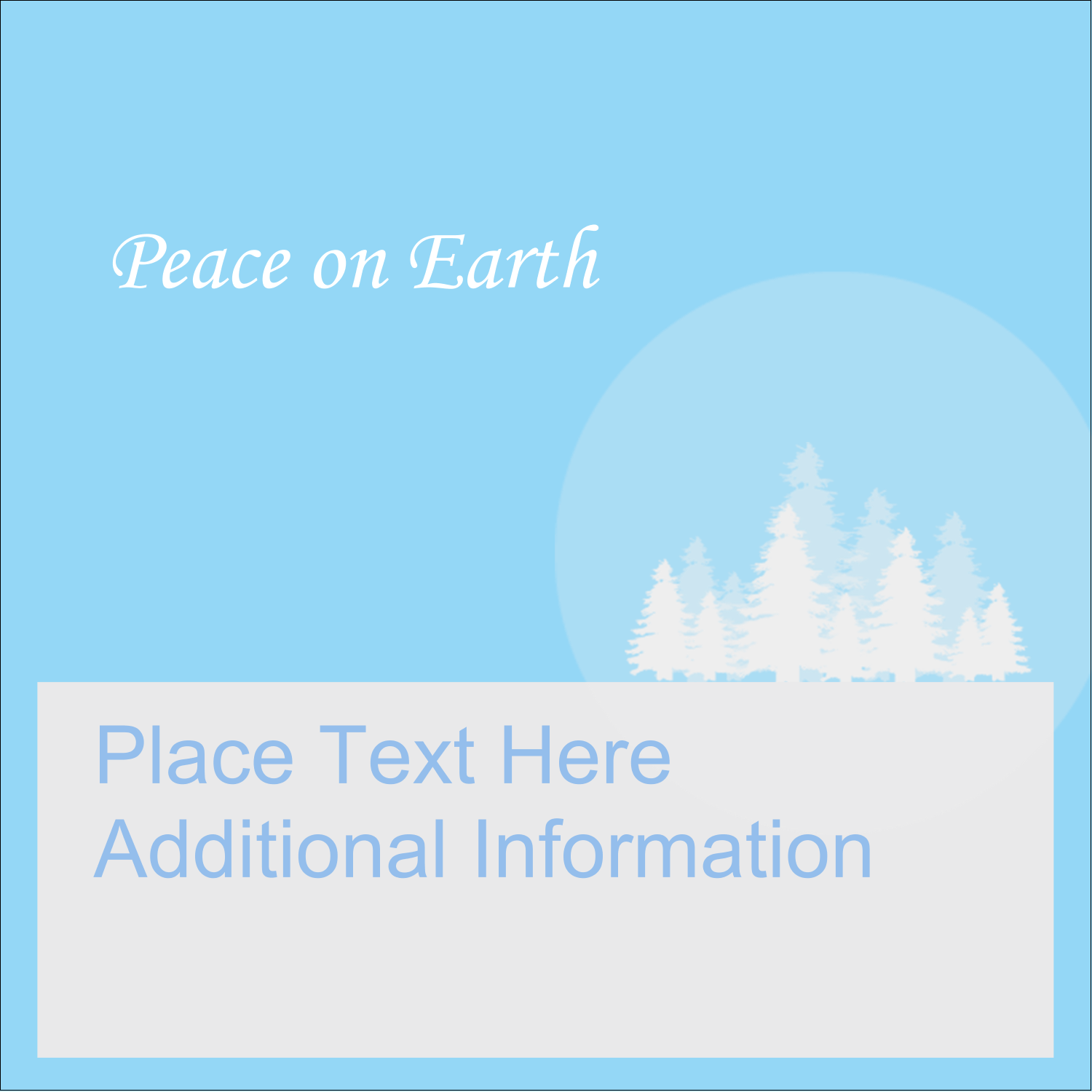 "1½"" x 1½"" Square Label - Blue Forest"