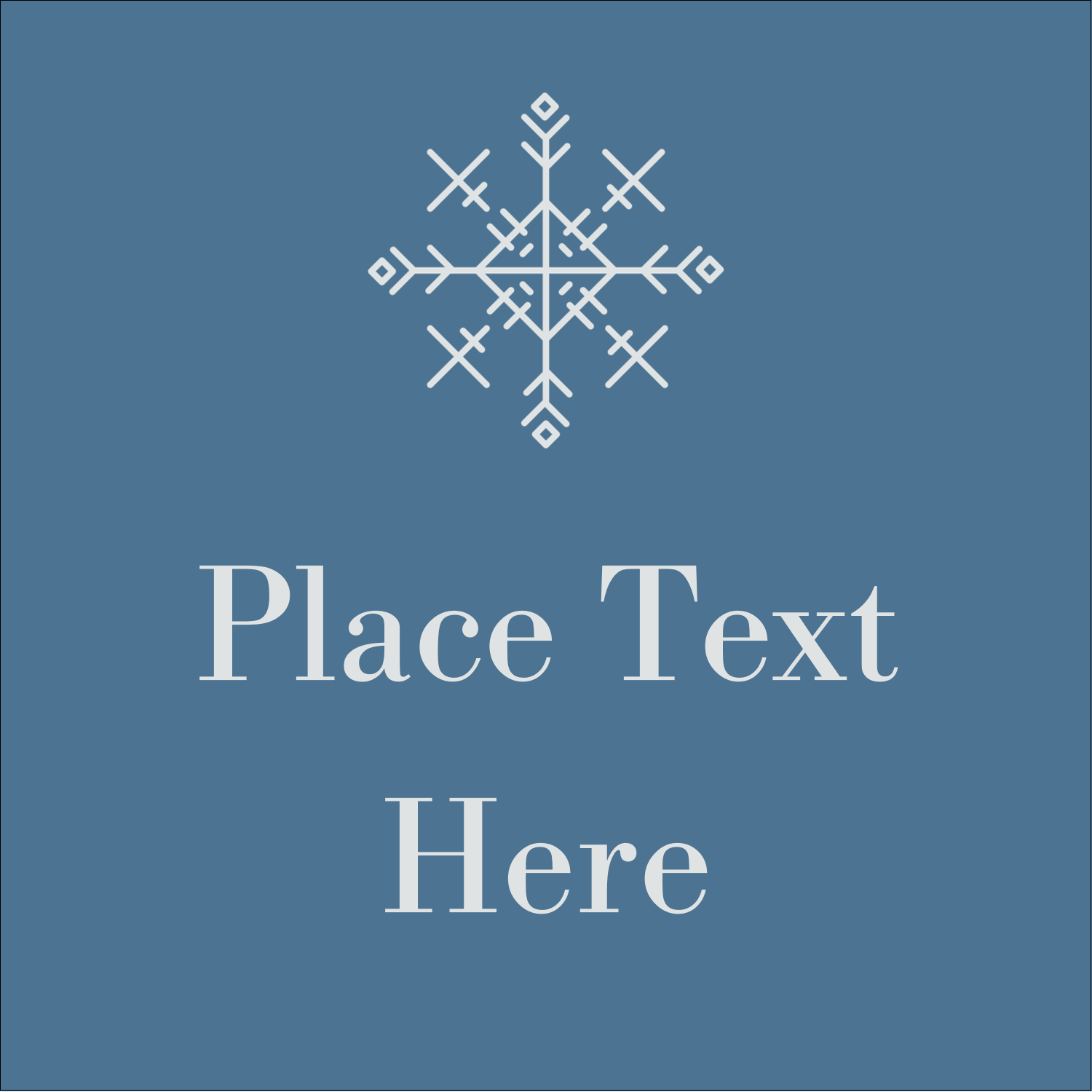 "1½"" x 1½"" Square Label - Snowflakes"
