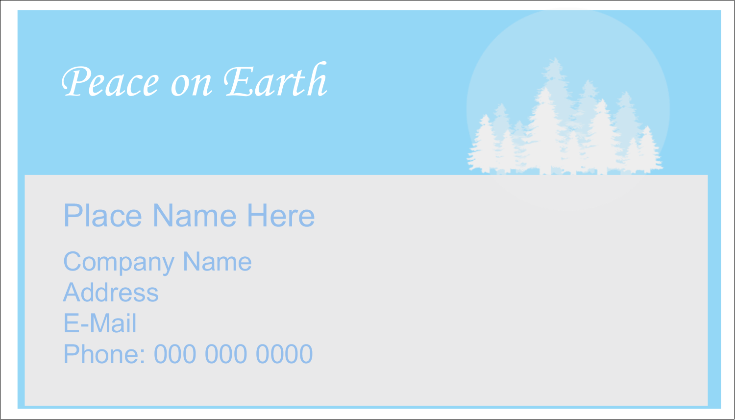 "2"" x 3½"" Business Card - Blue Forest"