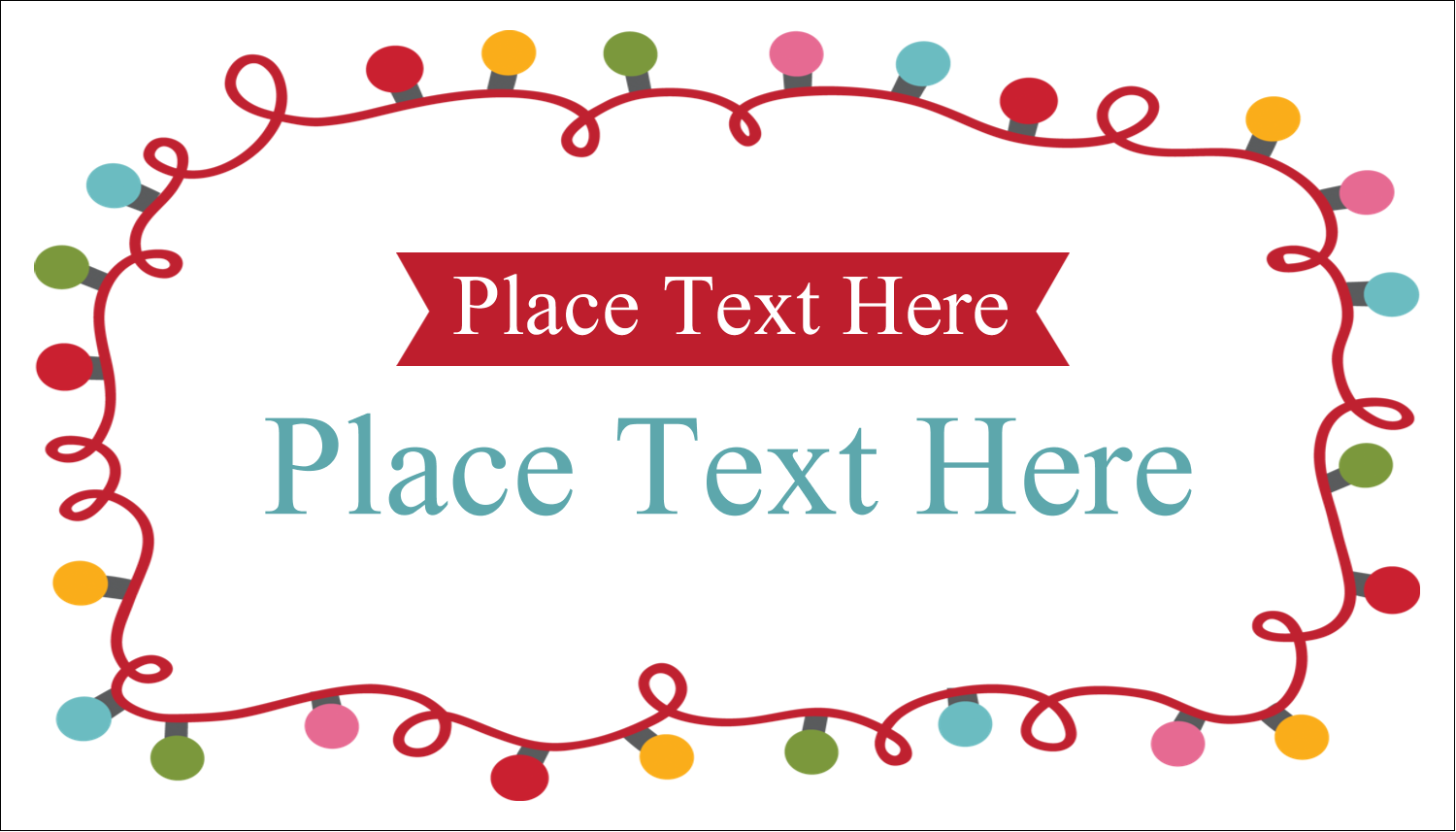 """2"""" x 3½"""" Business Card - Holiday Lights"""