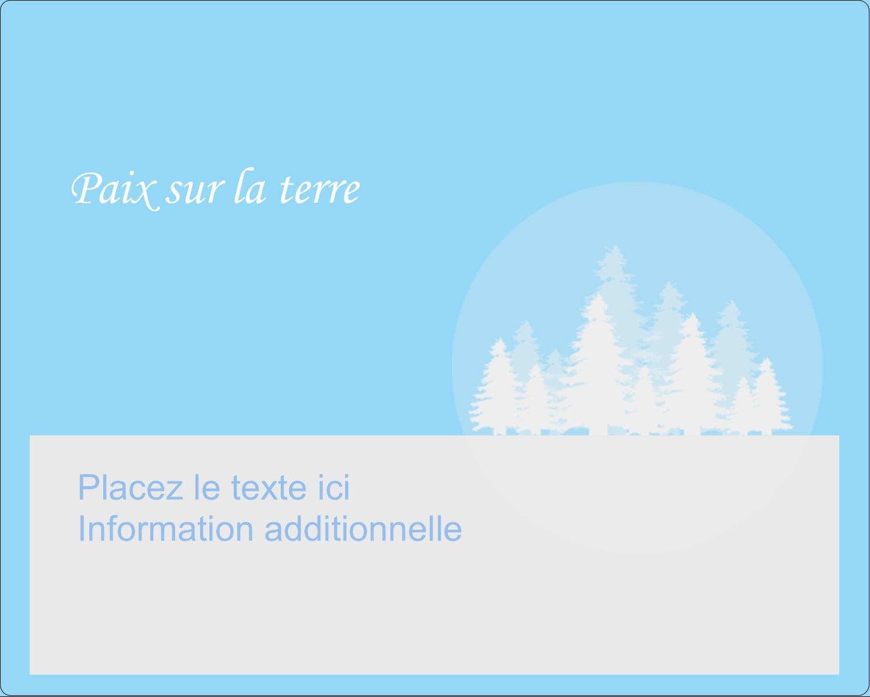 """2"""" Diameter Étiquettes rondes gaufrées - Forêt bleue"""
