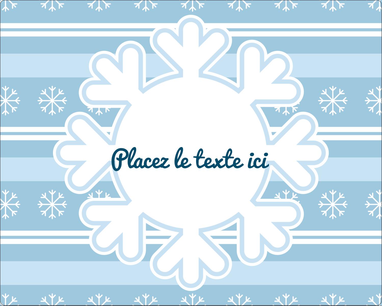 """2"""" Diameter Étiquettes rondes gaufrées - Les gabarits Flocon de neige bleu pour votre prochain projet des Fêtes"""