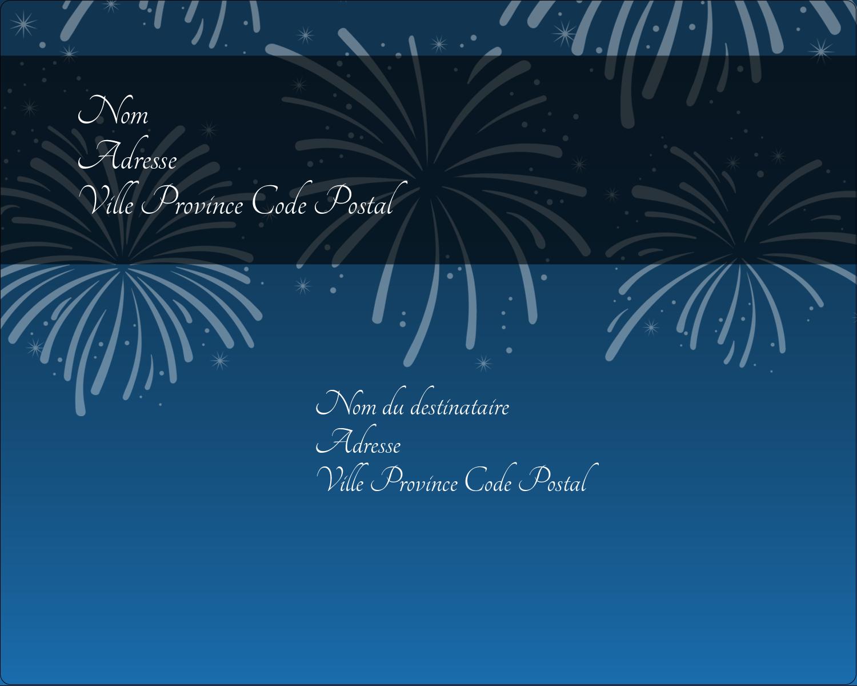 """2"""" Diameter Étiquettes rondes gaufrées - Feux d'artifice bleus du Nouvel An"""