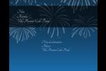 Feux d'artifice bleus du Nouvel An Étiquettes rondes gaufrées - gabarit prédéfini. <br/>Utilisez notre logiciel Avery Design & Print Online pour personnaliser facilement la conception.
