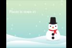 Petit bonhomme de neige Étiquettes rondes gaufrées - gabarit prédéfini. <br/>Utilisez notre logiciel Avery Design & Print Online pour personnaliser facilement la conception.