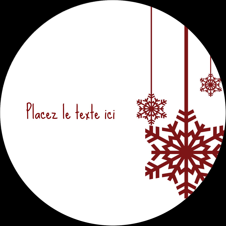 """3-7/16"""" x 15/16"""" Étiquettes de classement - Les gabarits Flocons de neige en feutre pour votre prochain projet des Fêtes"""