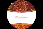 Feux d'artifice rouges du Nouvel An Étiquettes de classement - gabarit prédéfini. <br/>Utilisez notre logiciel Avery Design & Print Online pour personnaliser facilement la conception.