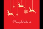 Décor de renne Étiquettes rondes gaufrées - gabarit prédéfini. <br/>Utilisez notre logiciel Avery Design & Print Online pour personnaliser facilement la conception.