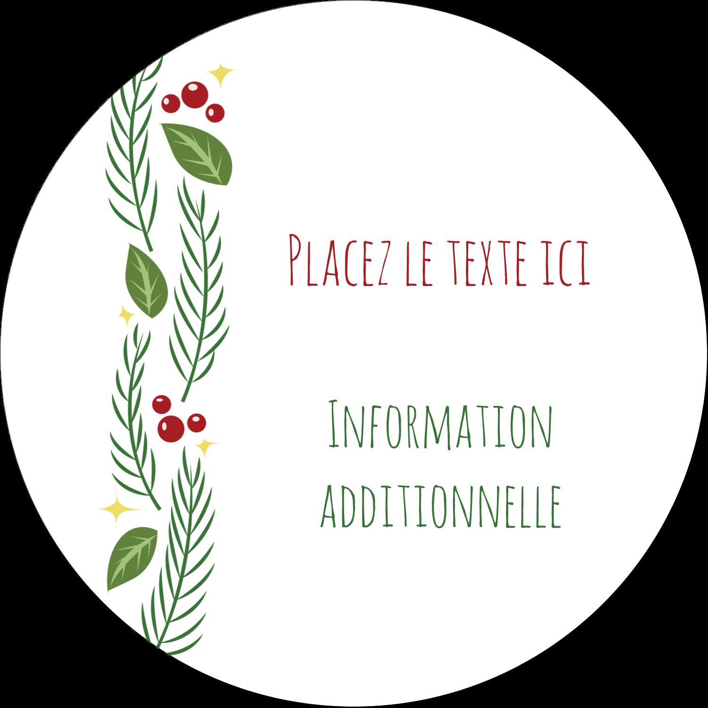 """3-7/16"""" x 15/16"""" Étiquettes de classement - Les gabarits Guirlande pour votre prochain projet des Fêtes"""