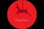 Décor de renne Étiquettes de classement - gabarit prédéfini. <br/>Utilisez notre logiciel Avery Design & Print Online pour personnaliser facilement la conception.