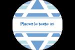 Étoile de Hanoukka Étiquettes de classement - gabarit prédéfini. <br/>Utilisez notre logiciel Avery Design & Print Online pour personnaliser facilement la conception.