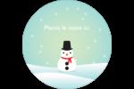 Petit bonhomme de neige Étiquettes de classement - gabarit prédéfini. <br/>Utilisez notre logiciel Avery Design & Print Online pour personnaliser facilement la conception.