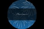 Feux d'artifice bleus du Nouvel An Étiquettes de classement - gabarit prédéfini. <br/>Utilisez notre logiciel Avery Design & Print Online pour personnaliser facilement la conception.