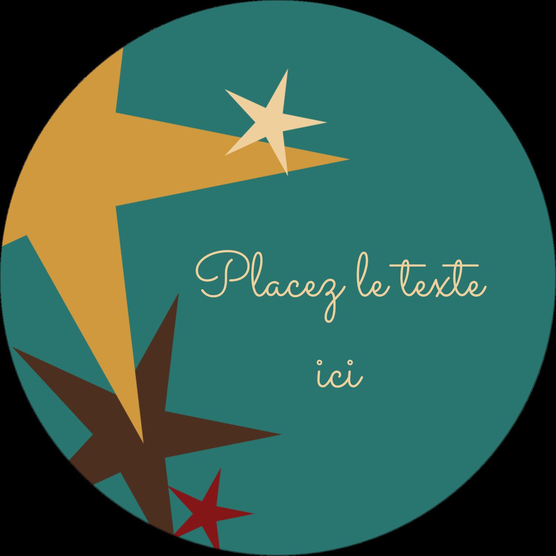 """3-7/16"""" x 15/16"""" Étiquettes de classement - Étoiles du Nouvel An"""