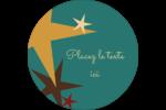 Étoiles du Nouvel An Étiquettes de classement - gabarit prédéfini. <br/>Utilisez notre logiciel Avery Design & Print Online pour personnaliser facilement la conception.