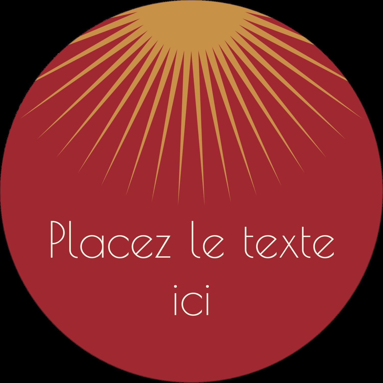 """3-7/16"""" x 15/16"""" Étiquettes de classement - Soleils du Nouvel An"""