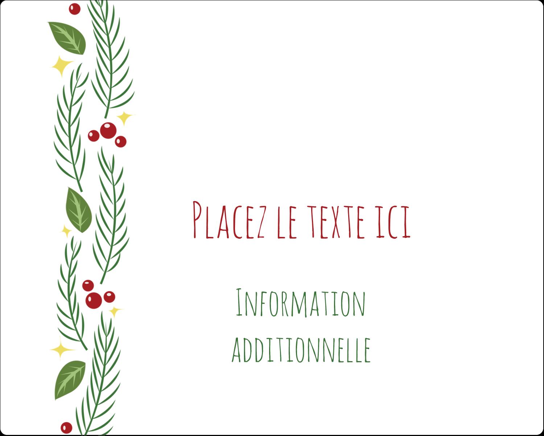 """2"""" Diameter Étiquettes rondes gaufrées - Les gabarits Guirlande pour votre prochain projet des Fêtes"""