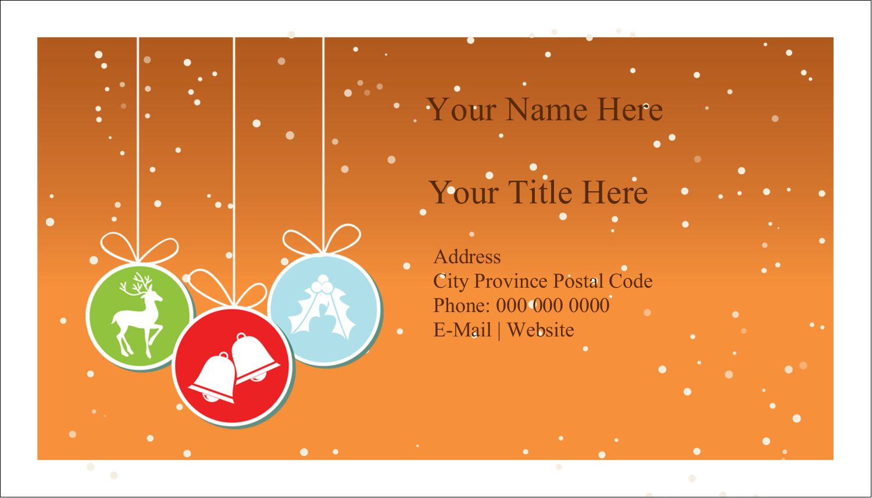 "2"" x 3½"" Business Card - Hanging Bulbs"