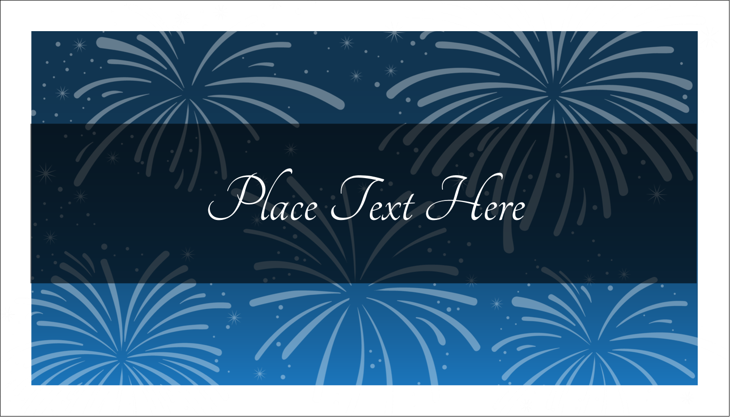 "2"" x 3½"" Business Card - New Year Blue Fireworks"