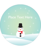 Add decorative holiday cheer to custom projects with pre-designed Little Snowman templates.