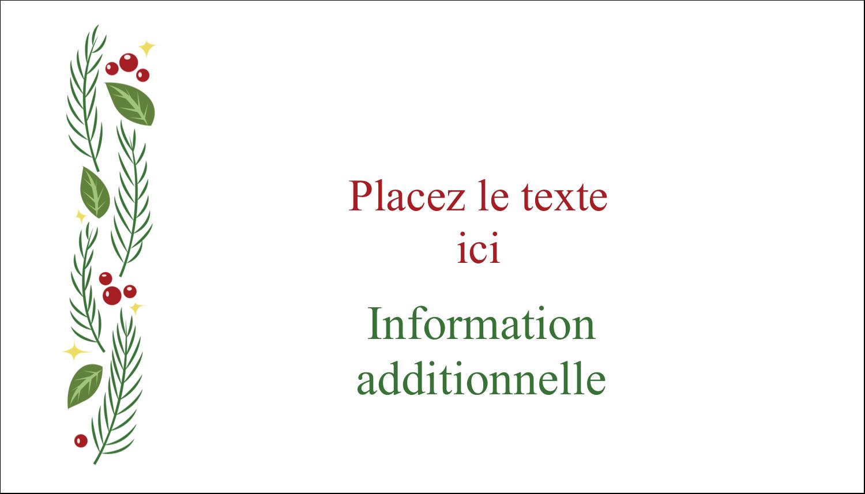 """3"""" x 5"""" Cartes Pour Le Bureau - Les gabarits Guirlande pour votre prochain projet des Fêtes"""