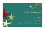 Étoiles du Nouvel An Cartes Pour Le Bureau - gabarit prédéfini. <br/>Utilisez notre logiciel Avery Design & Print Online pour personnaliser facilement la conception.