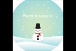 Petit bonhomme de neige Étiquettes carrées - gabarit prédéfini. <br/>Utilisez notre logiciel Avery Design & Print Online pour personnaliser facilement la conception.