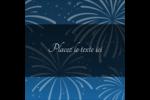Feux d'artifice bleus du Nouvel An Étiquettes carrées - gabarit prédéfini. <br/>Utilisez notre logiciel Avery Design & Print Online pour personnaliser facilement la conception.