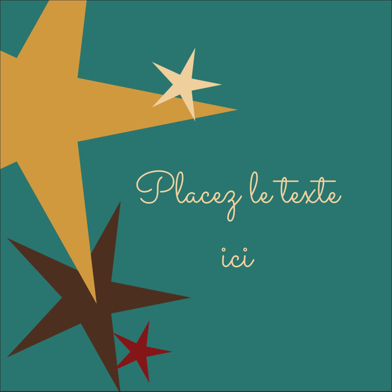 """2"""" x 2"""" Étiquettes carrées - Étoiles du Nouvel An"""