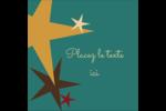 Étoiles du Nouvel An Étiquettes carrées - gabarit prédéfini. <br/>Utilisez notre logiciel Avery Design & Print Online pour personnaliser facilement la conception.