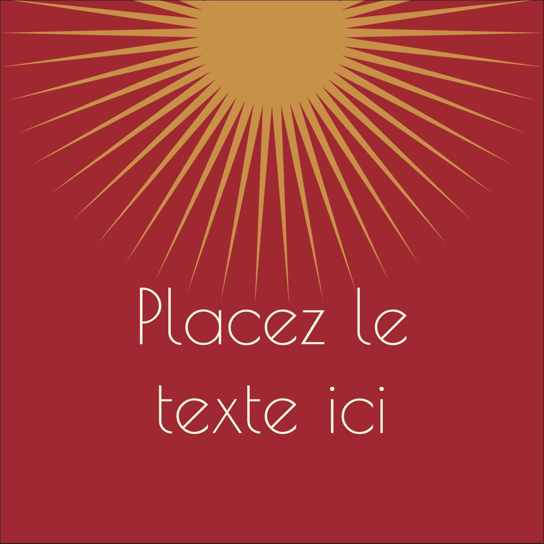 """2"""" x 2"""" Étiquettes carrées - Soleils du Nouvel An"""